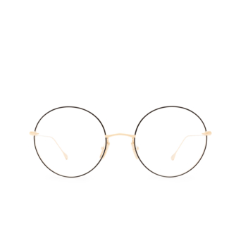 Dita® Round Eyeglasses: Believer DTX506-52-03-Z color Black & Gold Blk-gld.