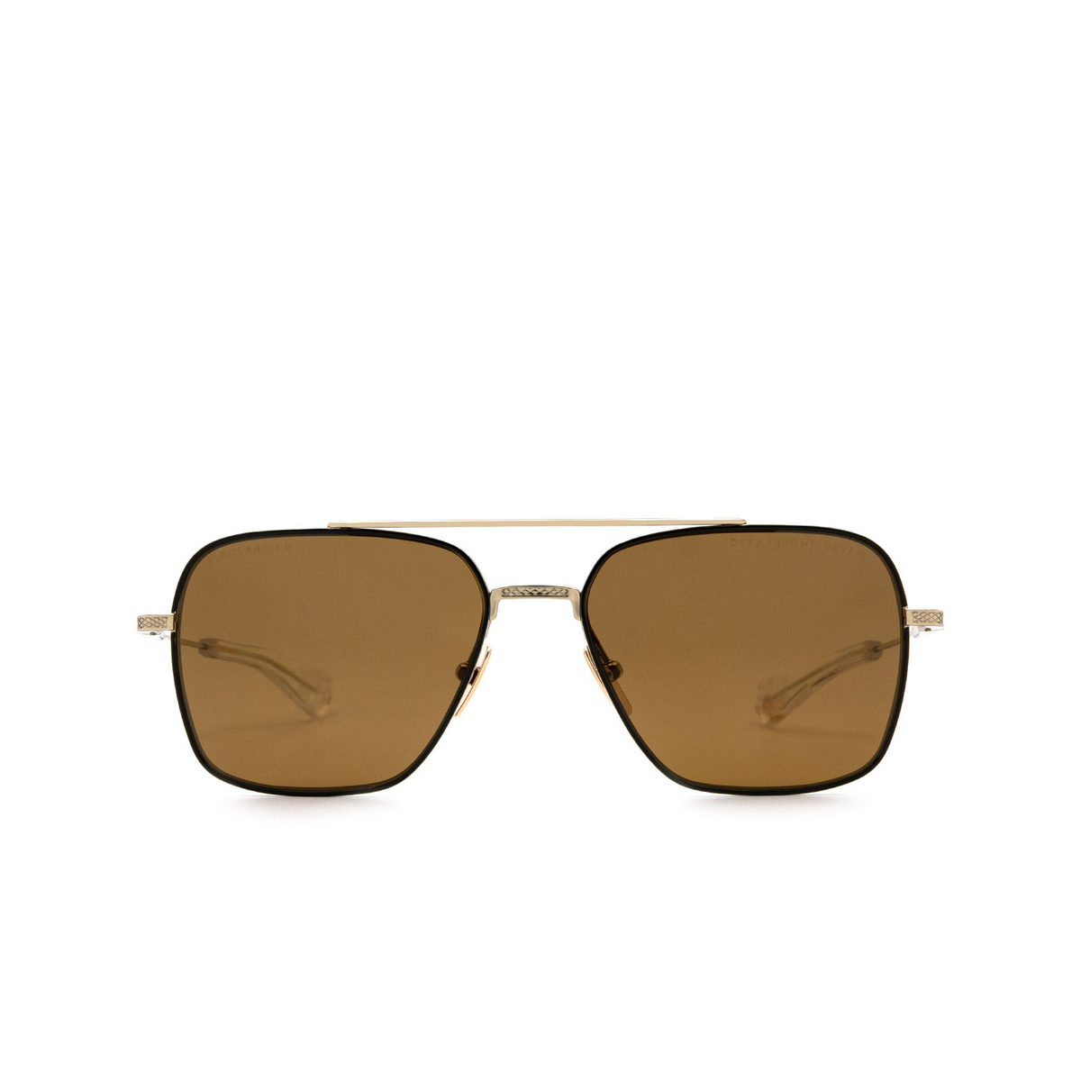 Dita® Aviator Sunglasses: DTS111-57-04-Z color Black Gold Blk-gld.
