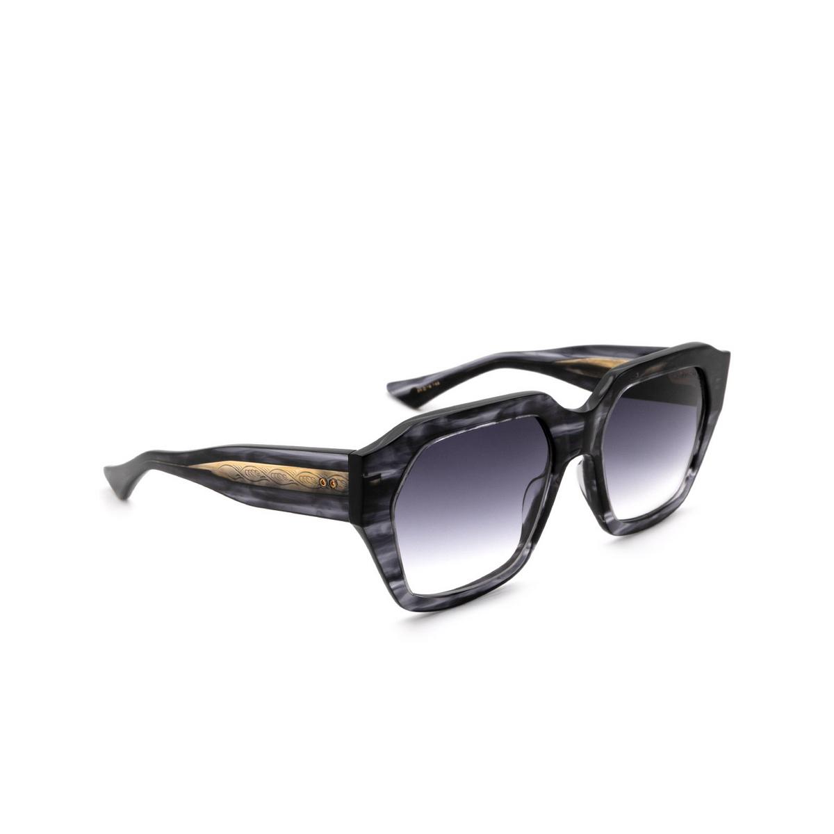Dita® Square Sunglasses: Tetramaker DTS709-A-01-A color Black Gold Blk-gld.