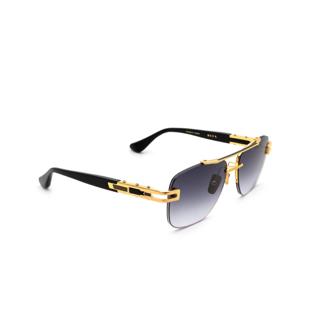 Dita® Aviator Sunglasses: Grand-evo One DTS138-A-01-Z color Gold Black Gld-blk.