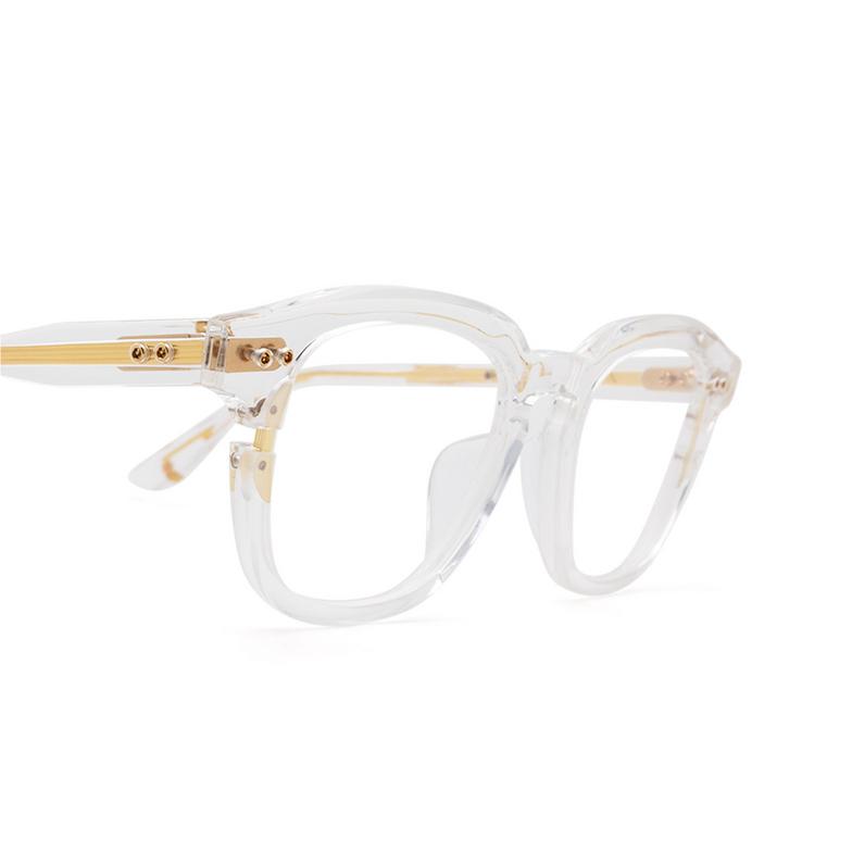 Dita® Square Eyeglasses: Lineus DTX702-A-03 color Crystal Gold Clr-gld.