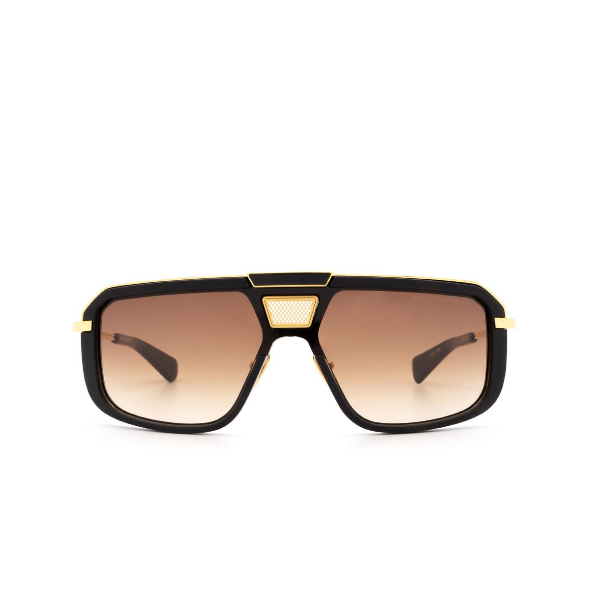 Dita® Aviator Sunglasses: Mach-eight DTS400-A-01-Z color Black & Gold Blk-gld.