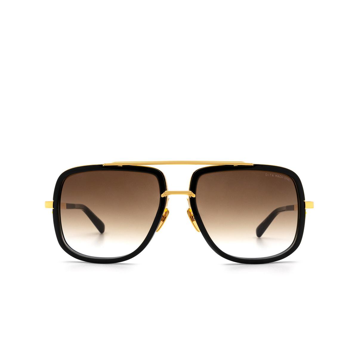 Dita® Aviator Sunglasses: Mach-one DRX-2030B-59-Z color Black Gold 18KGLD-BLK.