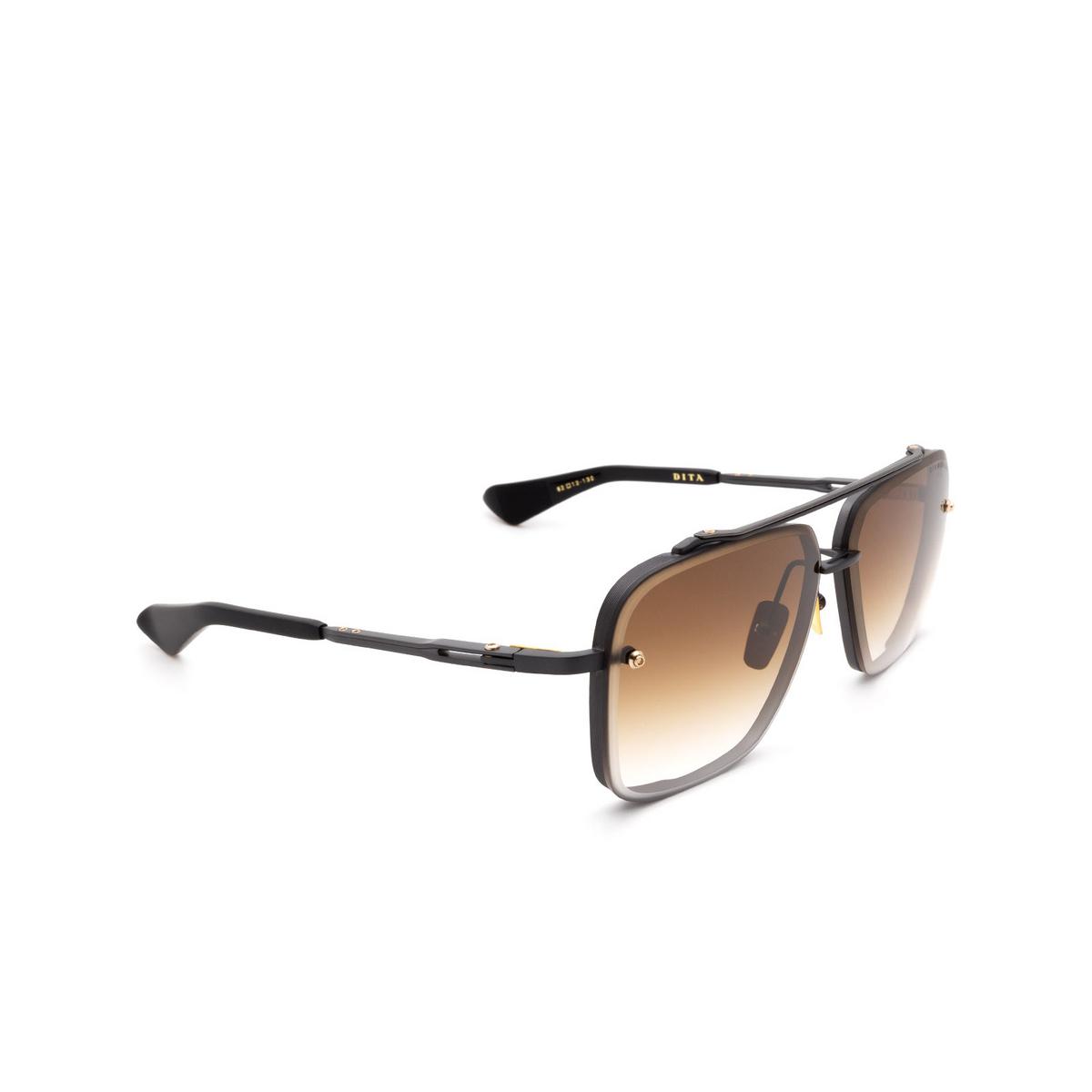 Dita® Aviator Sunglasses: Mach-six DTS121-62-03-Z color Black Blk-blk.