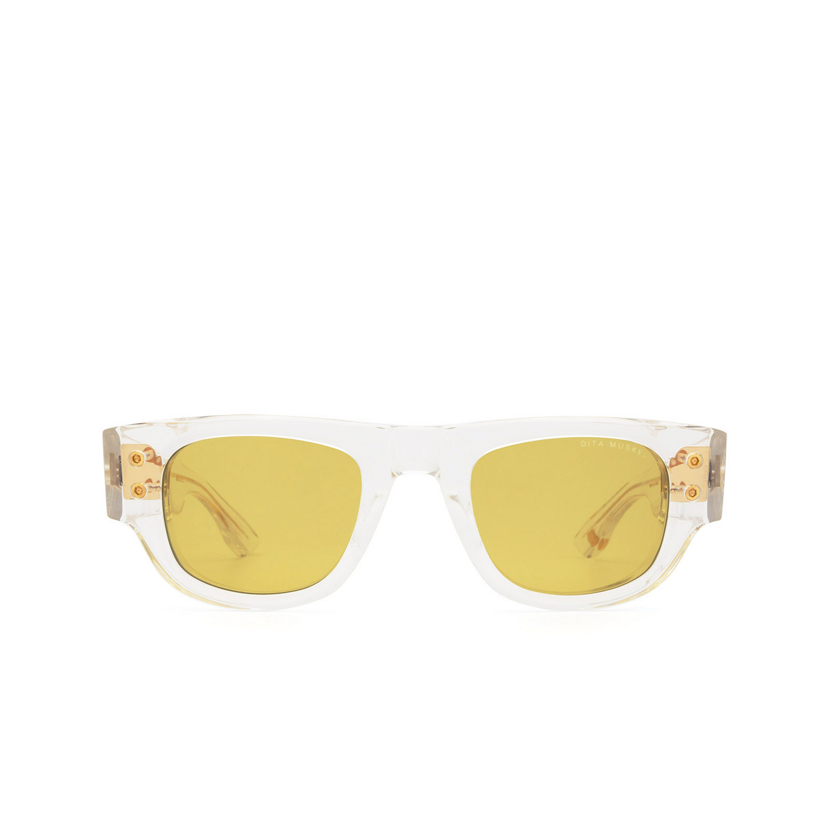 Dita® Rectangle Sunglasses: Muskel DTS701-A-03-Z color Crystal & Gold Clr-gld.