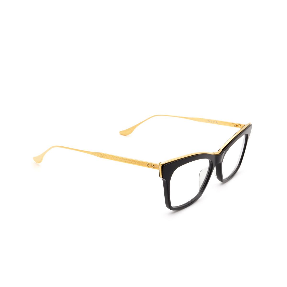 Dita® Cat-eye Eyeglasses: Nemora DTX401-A-01-Z color Black & Gold Blk-gld.