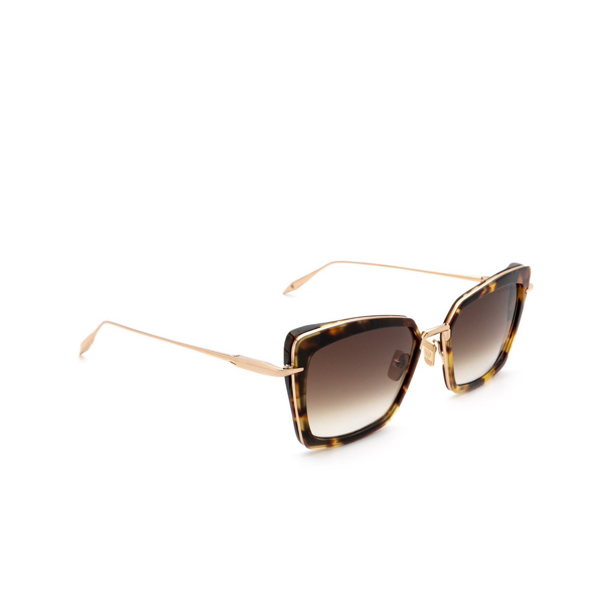 Dita® Butterfly Sunglasses: Perplexer DTS405-A-02 color Tortoise Gold Trt-gld - three-quarters view.