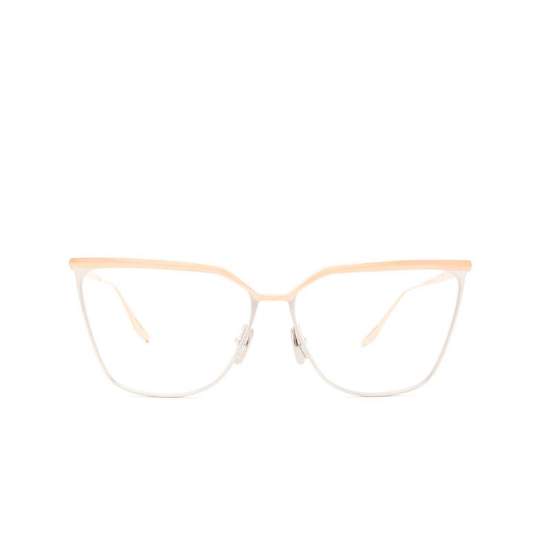 Dita® Butterfly Eyeglasses: Ravitte DTX140-A-02-Z color Rose Gold & Silver Rgd-slv.