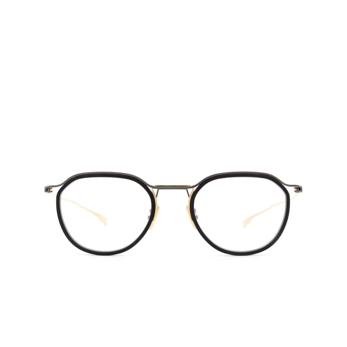 Dita® Square Eyeglasses: Schema-two DTX131-49-02-Z color Black & Gold Blk-gld.