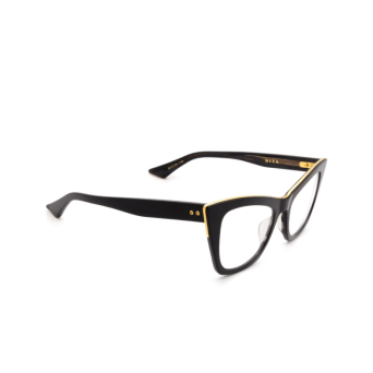 Dita® Cat-eye Eyeglasses: Showgoer DTX513-50-01-Z color Black & Gold Blk-gld.