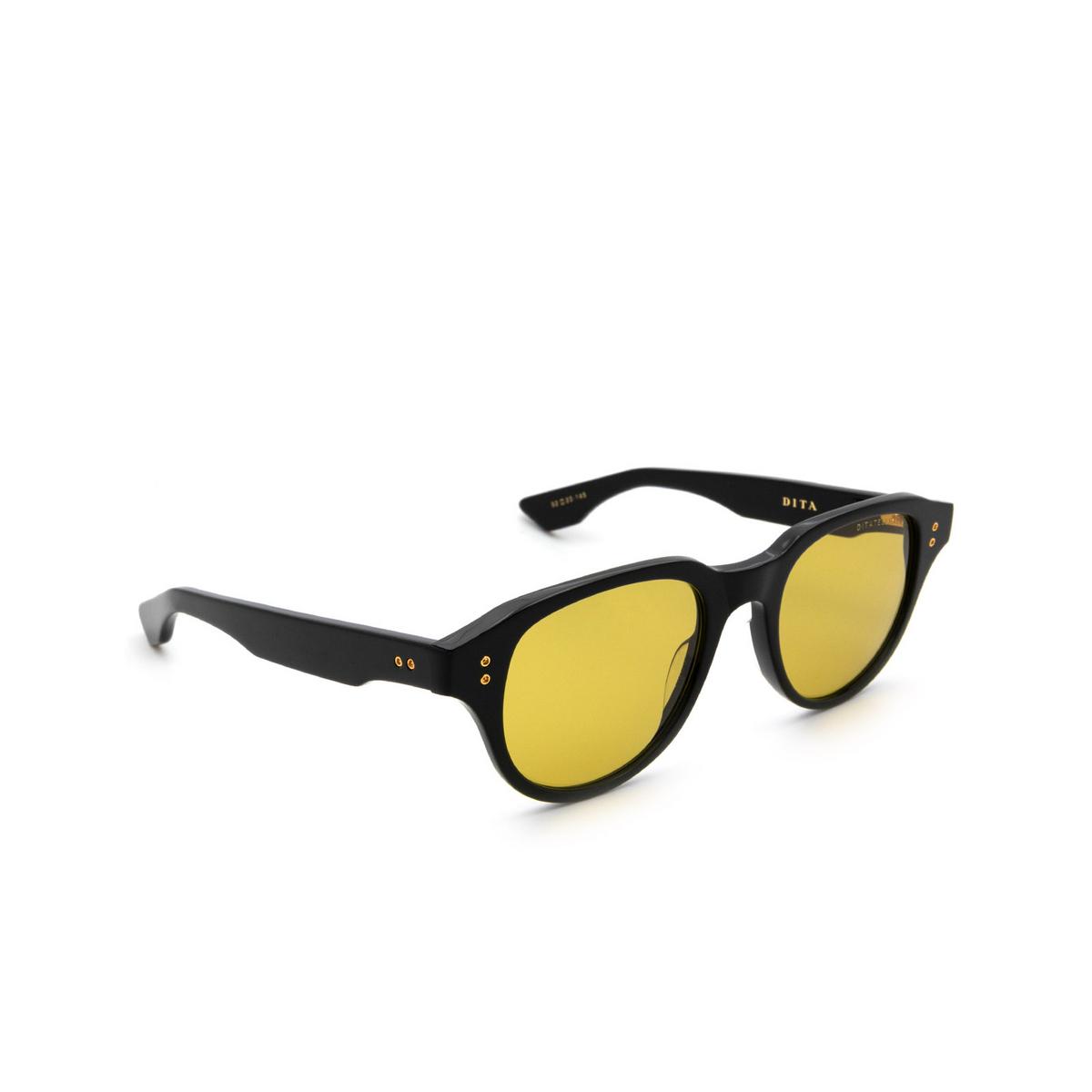Dita® Square Sunglasses: Telehacker DTS708-A-01-A color Black Gold Blk-gld.