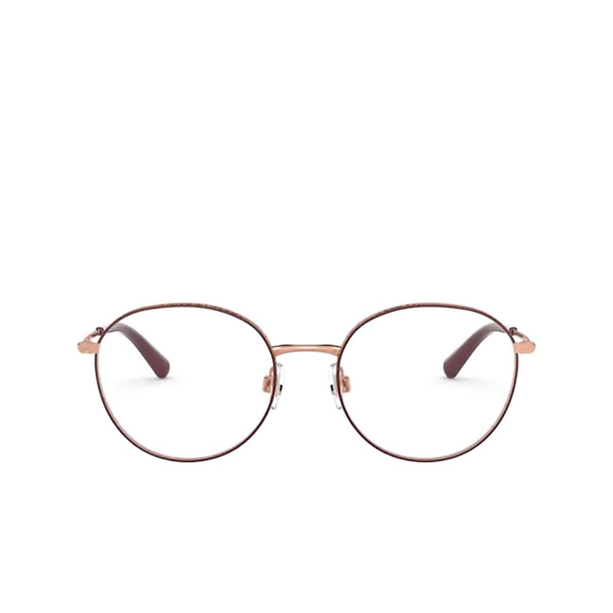 Dolce & Gabbana® Round Eyeglasses: DG1322 color Pink Gold / Bordeaux 1333 - front view.