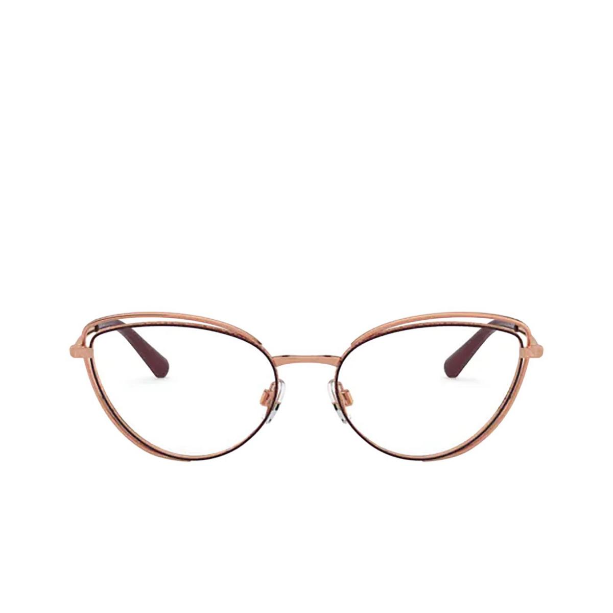 Dolce & Gabbana® Cat-eye Eyeglasses: DG1326 color Pink Gold / Bordeaux 1333 - front view.