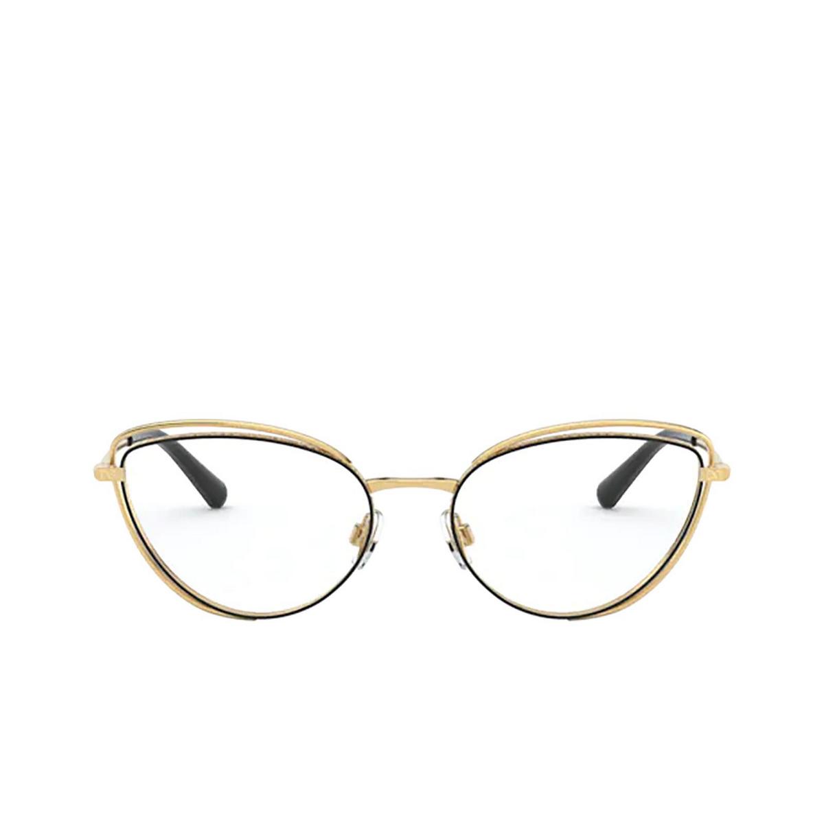 Dolce & Gabbana® Cat-eye Eyeglasses: DG1326 color Gold / Brown 1344 - front view.