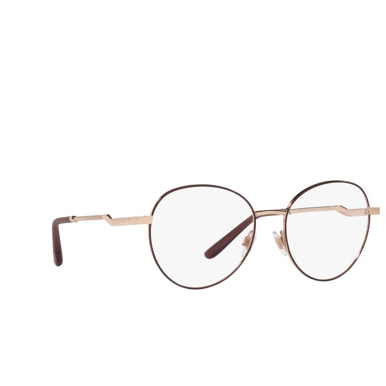 Dolce & Gabbana® Round Eyeglasses: DG1333 color Pink Gold / Bordeaux 1351.