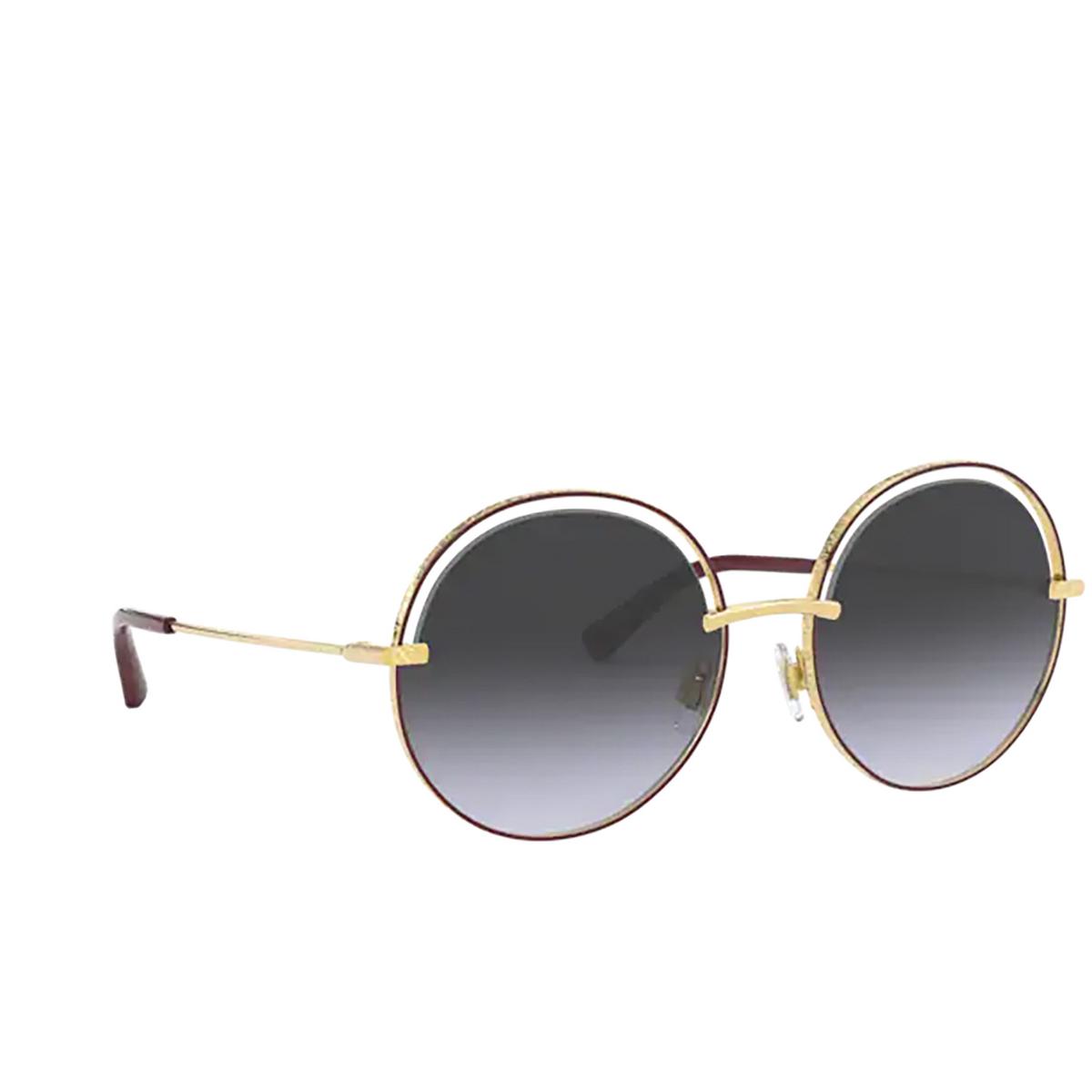 Dolce & Gabbana® Round Sunglasses: DG2262 color Bordeaux 13338G.