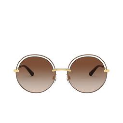 Dolce & Gabbana® Round Sunglasses: DG2262 color Brown 134413.