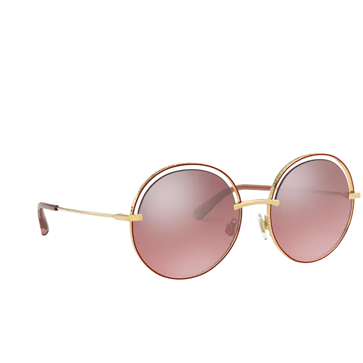 Dolce & Gabbana® Round Sunglasses: DG2262 color Pink 13467E.