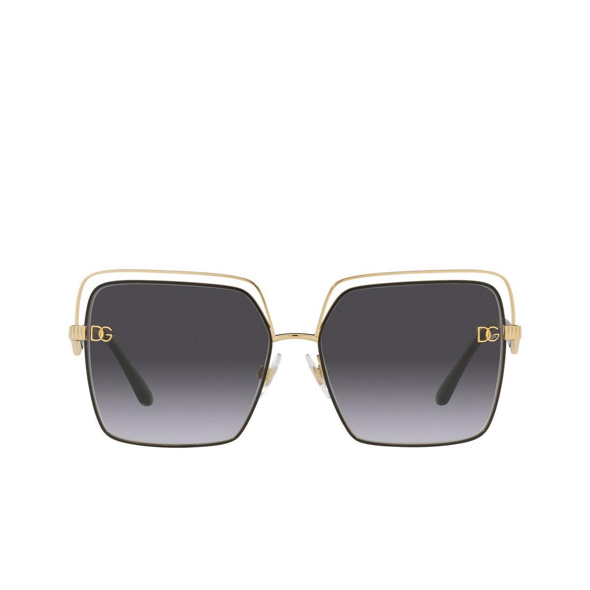 Dolce & Gabbana® Square Sunglasses: DG2268 color Gold/black 13348G.