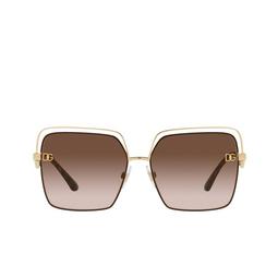 Dolce & Gabbana® Sunglasses: DG2268 color Gold/brown 134413.