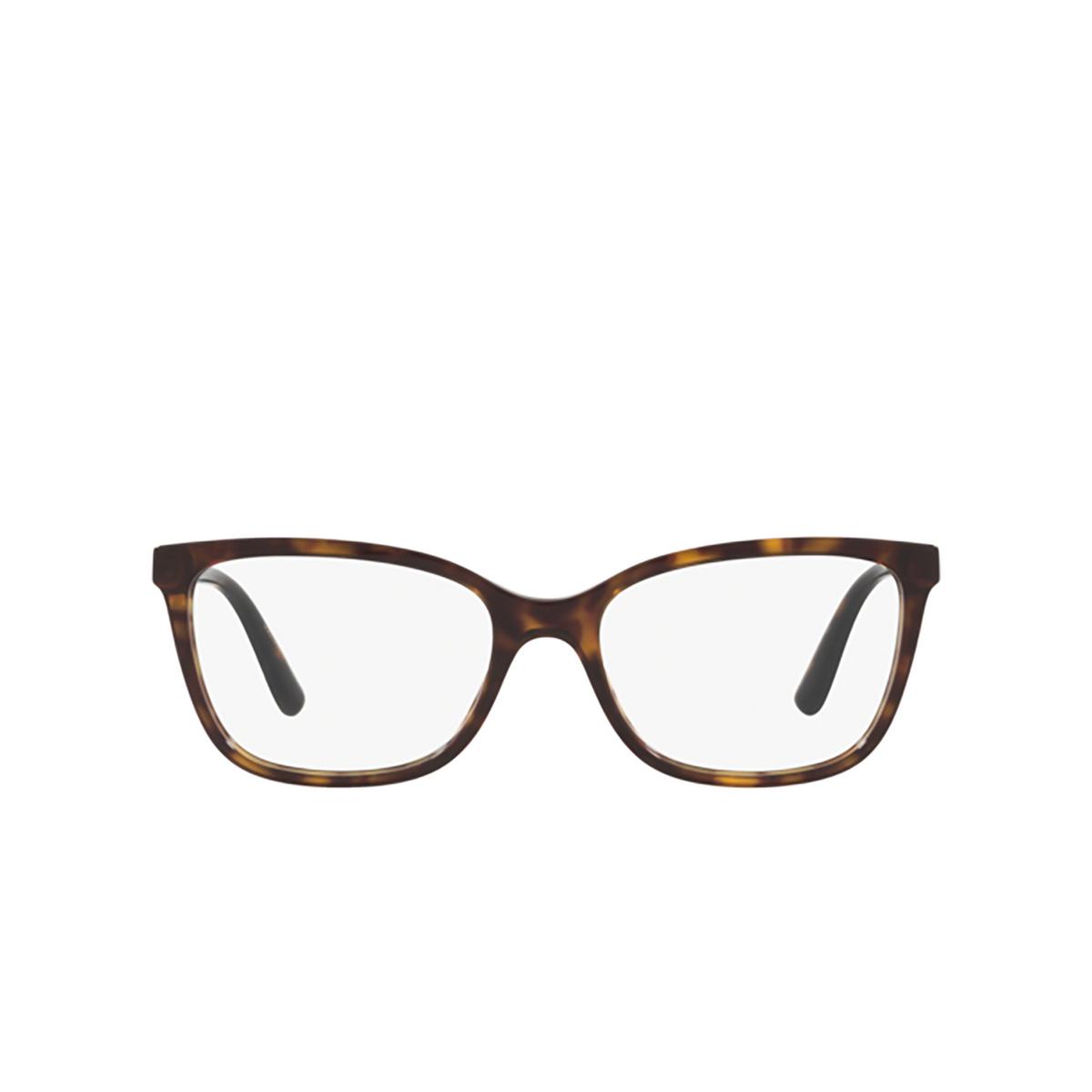 Dolce & Gabbana® Rectangle Eyeglasses: DG3317 color Havana 502 - front view.