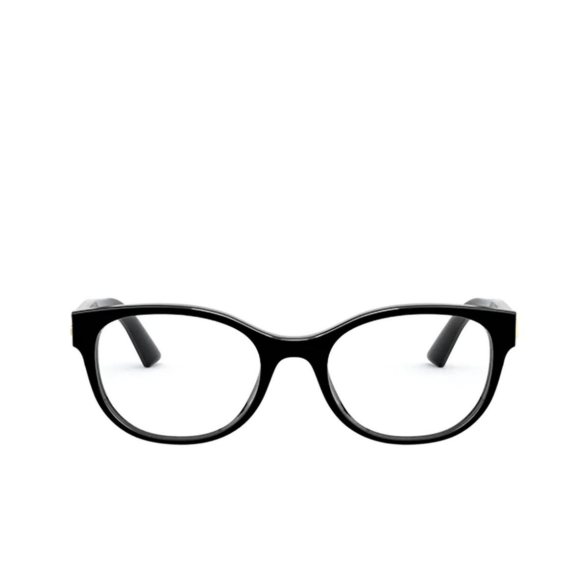 Dolce & Gabbana® Oval Eyeglasses: DG3327 color Black 501 - front view.