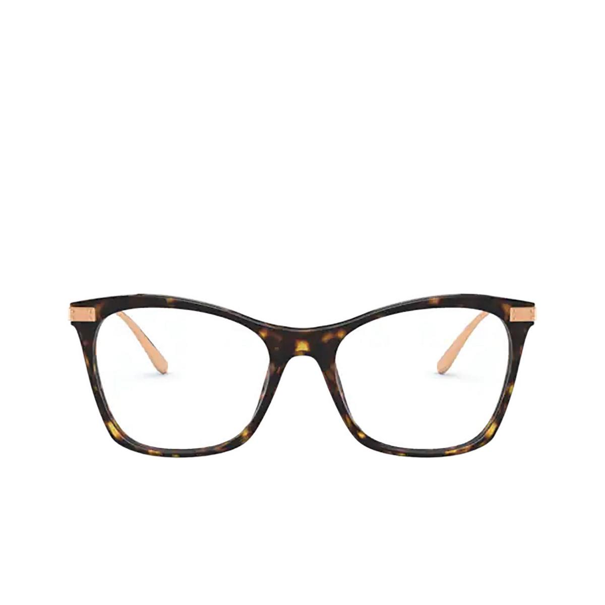 Dolce & Gabbana® Square Eyeglasses: DG3331 color Havana 502 - front view.