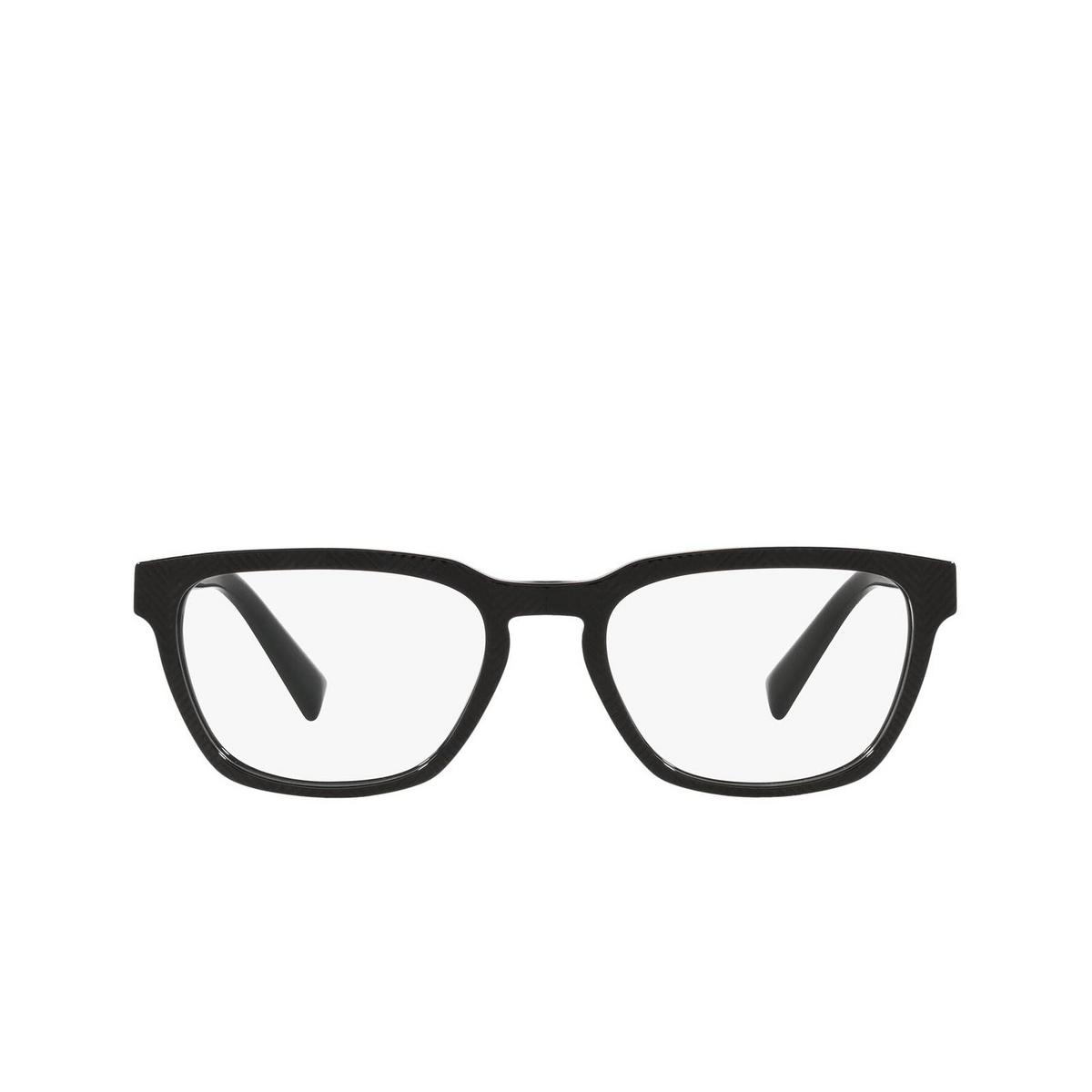 Dolce & Gabbana® Square Eyeglasses: DG3333 color Nero Texture Spigato 3298 - front view.