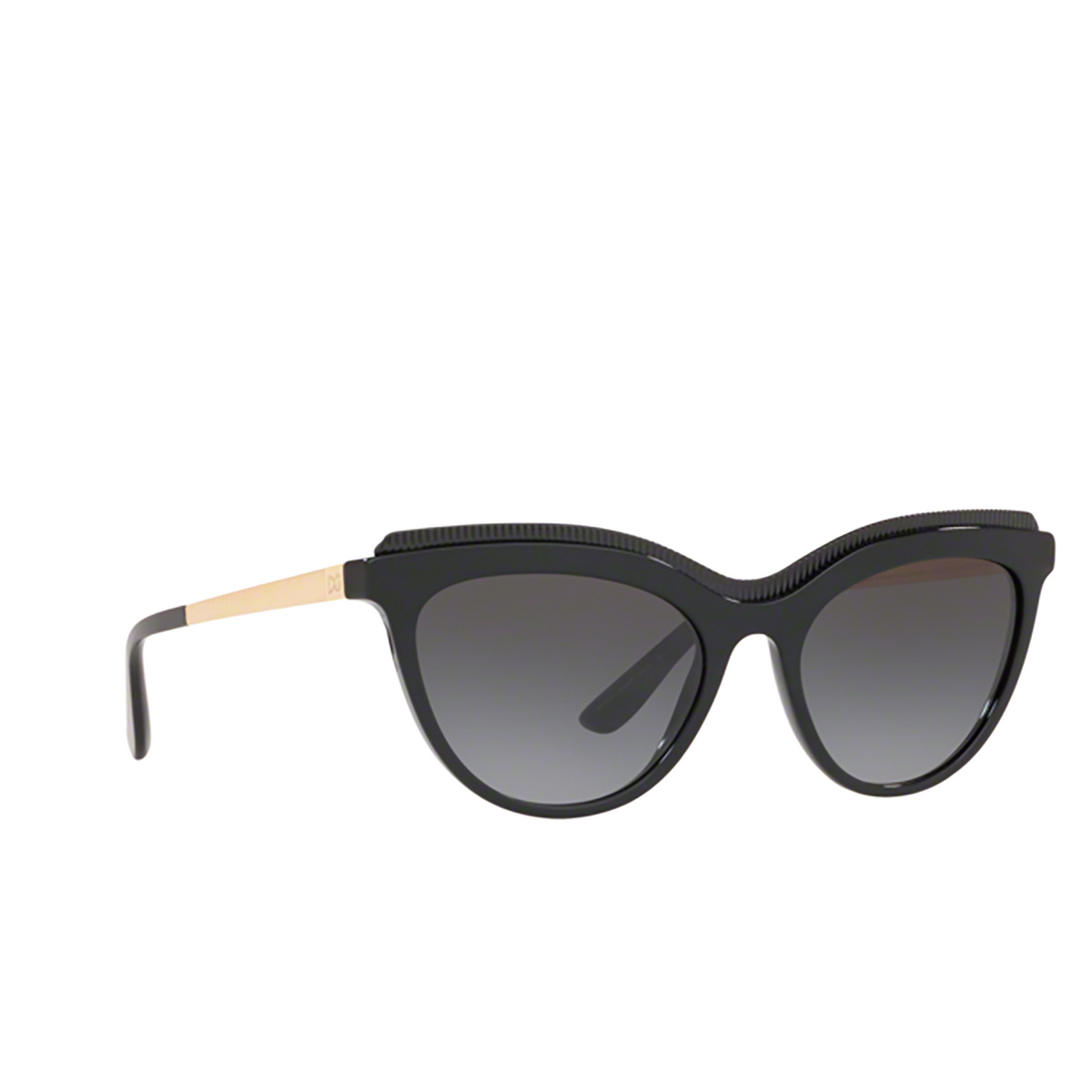 Dolce & Gabbana® Cat-eye Sunglasses: DG4335 color Black 501/8G - 2/3.