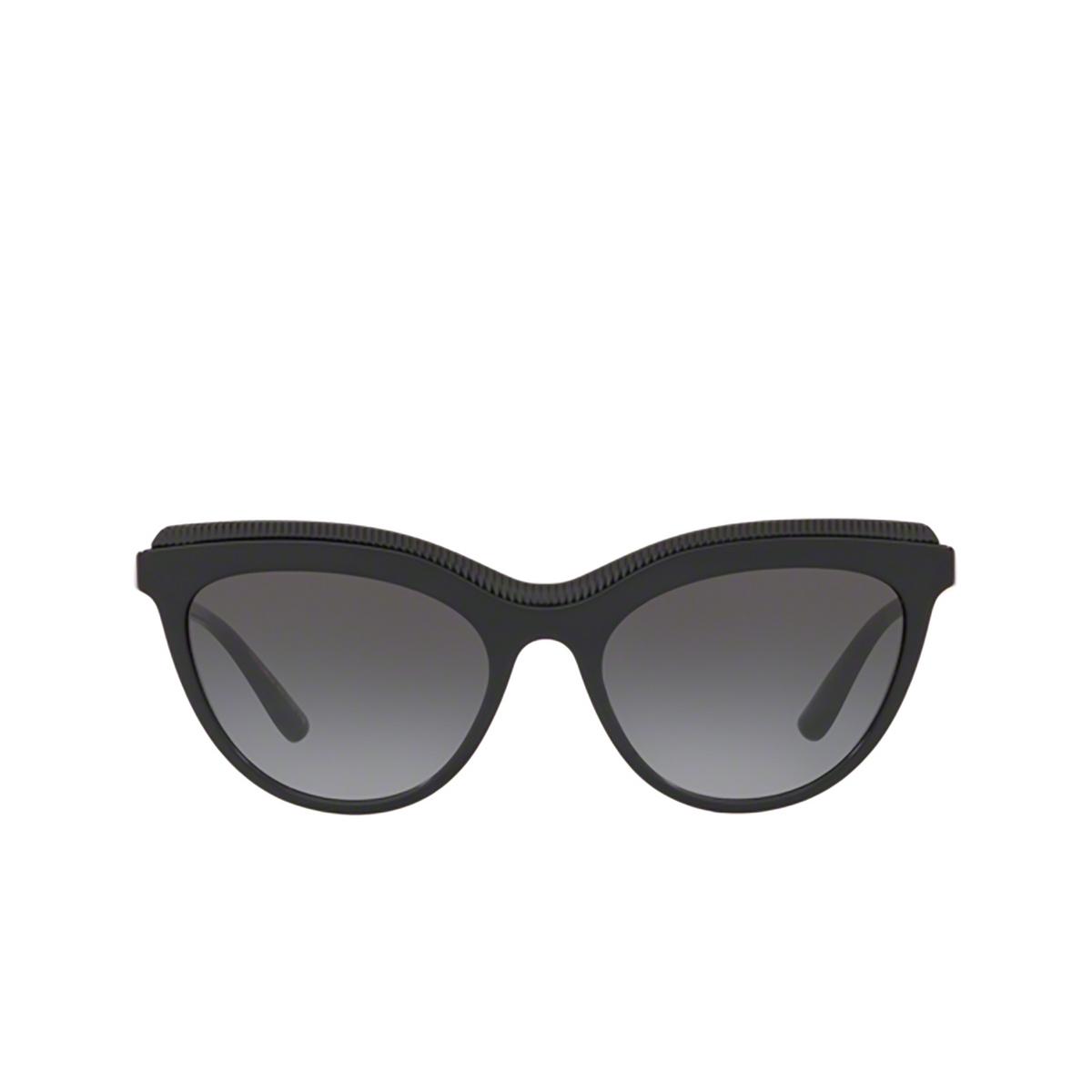 Dolce & Gabbana® Cat-eye Sunglasses: DG4335 color Black 501/8G - 1/3.