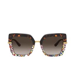 Dolce & Gabbana® Sunglasses: DG4373 color Havana / Print Carretto 327813.