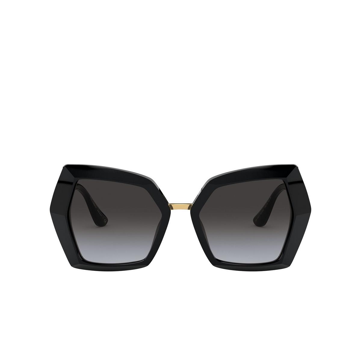 Dolce & Gabbana® Butterfly Sunglasses: DG4377 color Black 501/8G - front view.