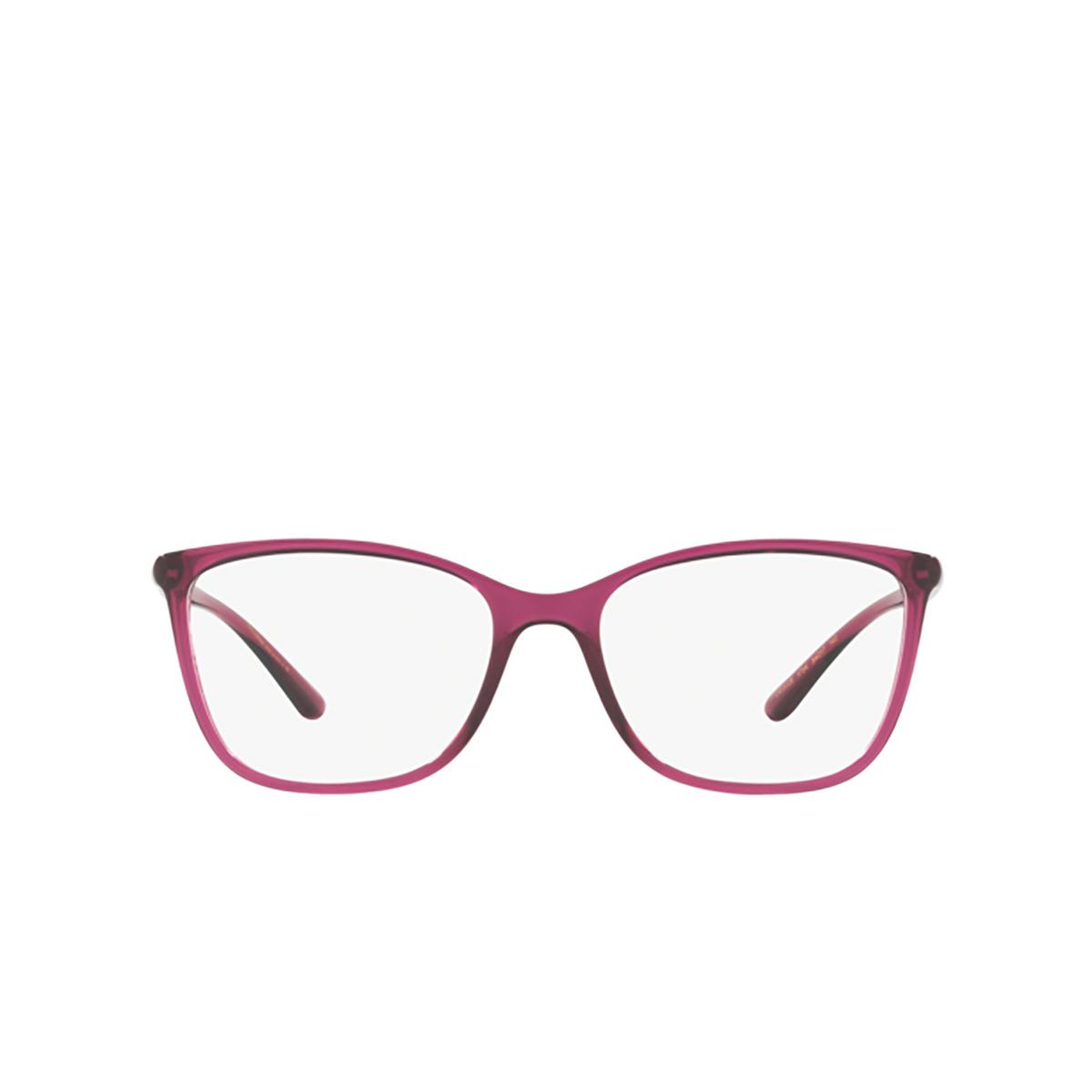Dolce & Gabbana® Rectangle Eyeglasses: DG5026 color Transparent Dark Cherry 1754 - front view.