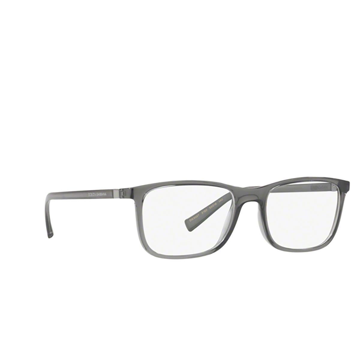 Dolce & Gabbana® Square Eyeglasses: DG5027 color Transparent Grey 3160 - three-quarters view.