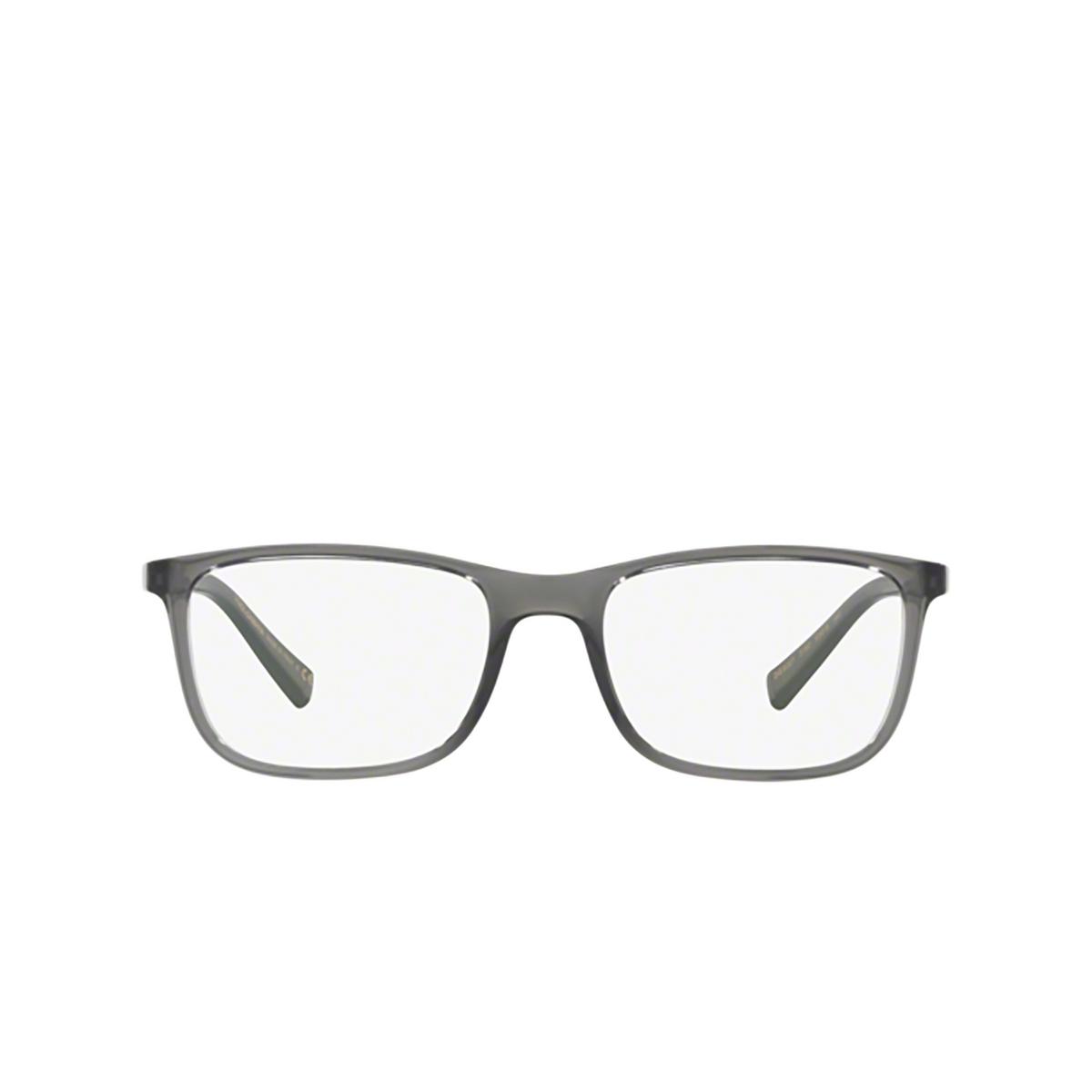 Dolce & Gabbana® Square Eyeglasses: DG5027 color Transparent Grey 3160 - front view.