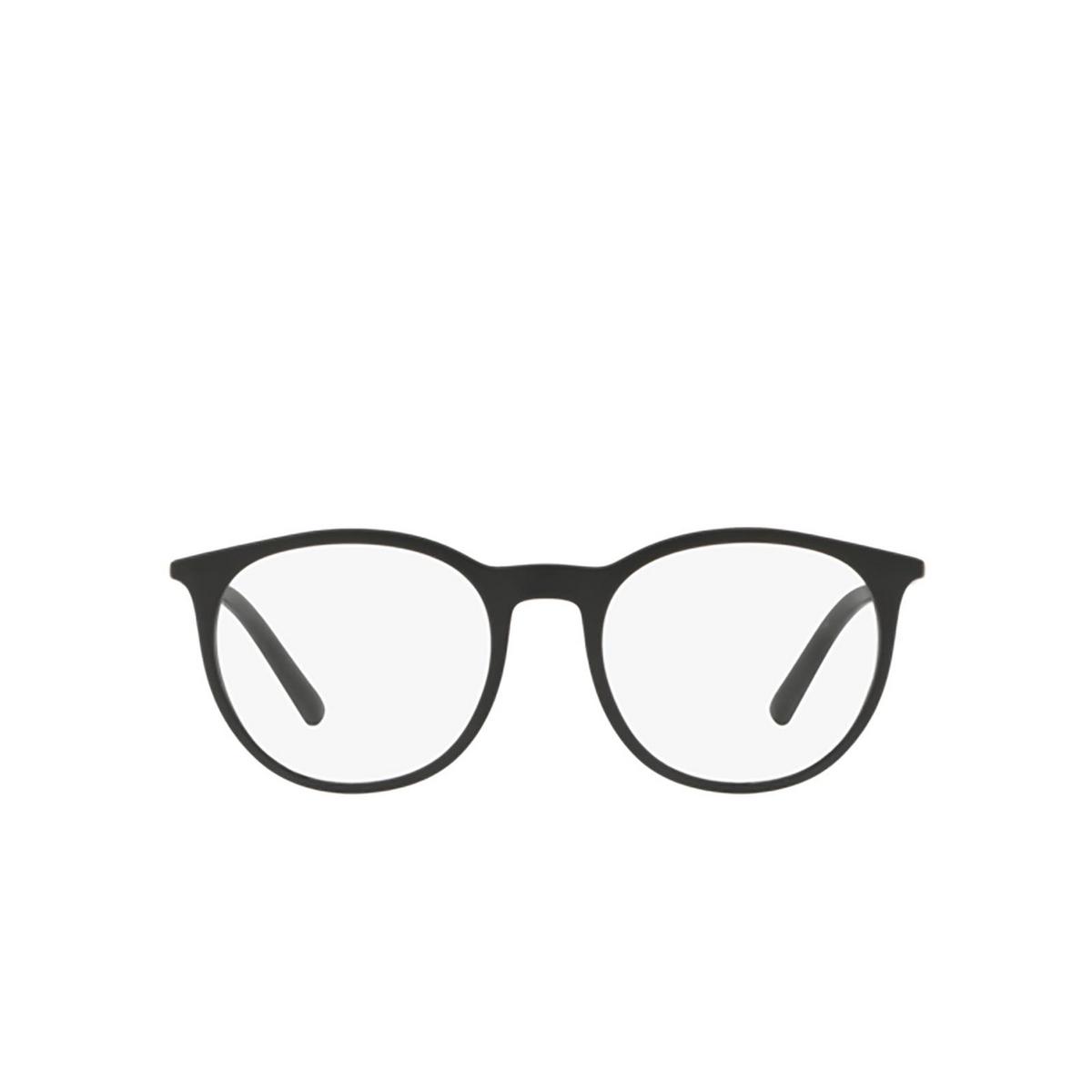 Dolce & Gabbana® Round Eyeglasses: DG5031 color Matte Black 2525 - front view.