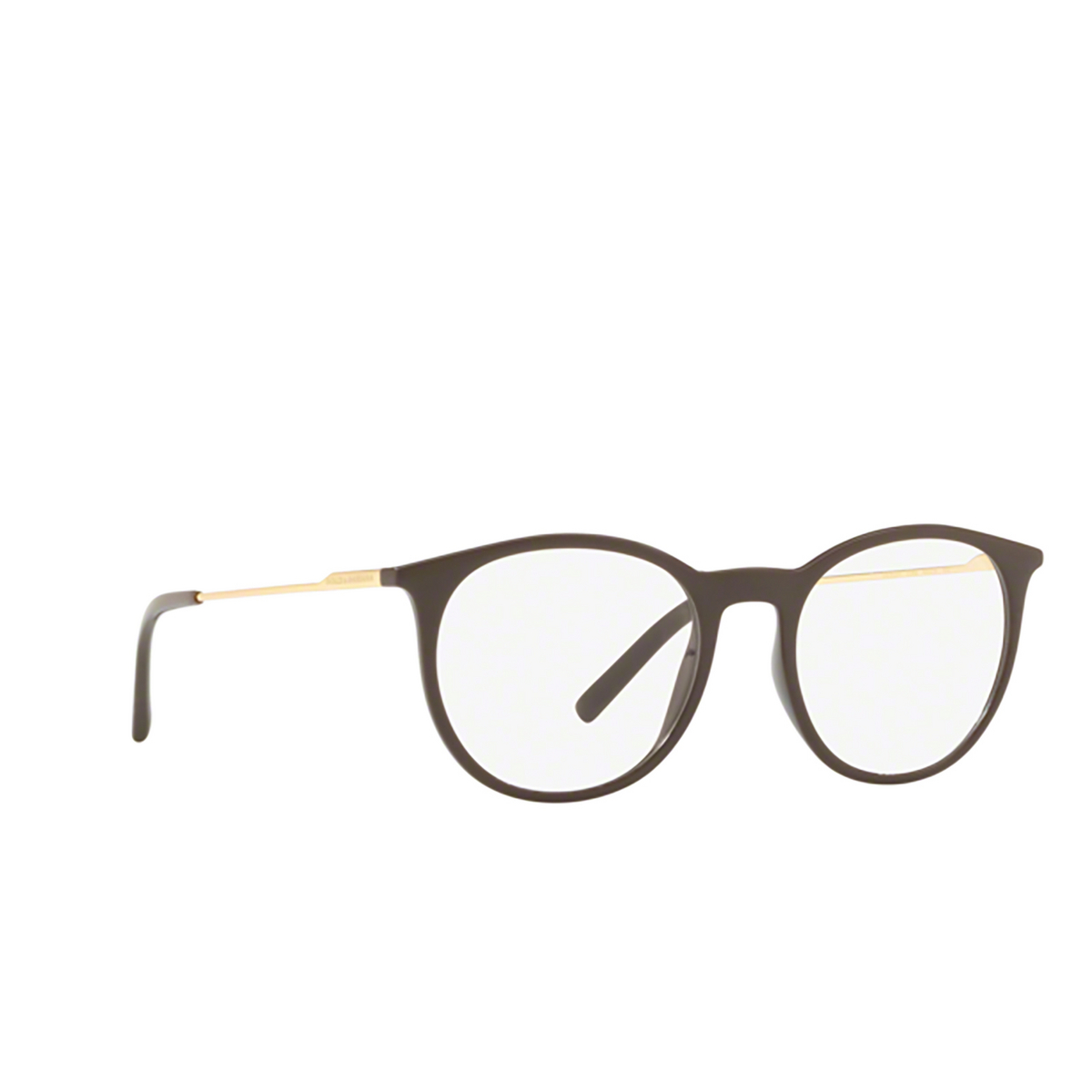 Dolce & Gabbana® Round Eyeglasses: DG5031 color 3042 - three-quarters view.