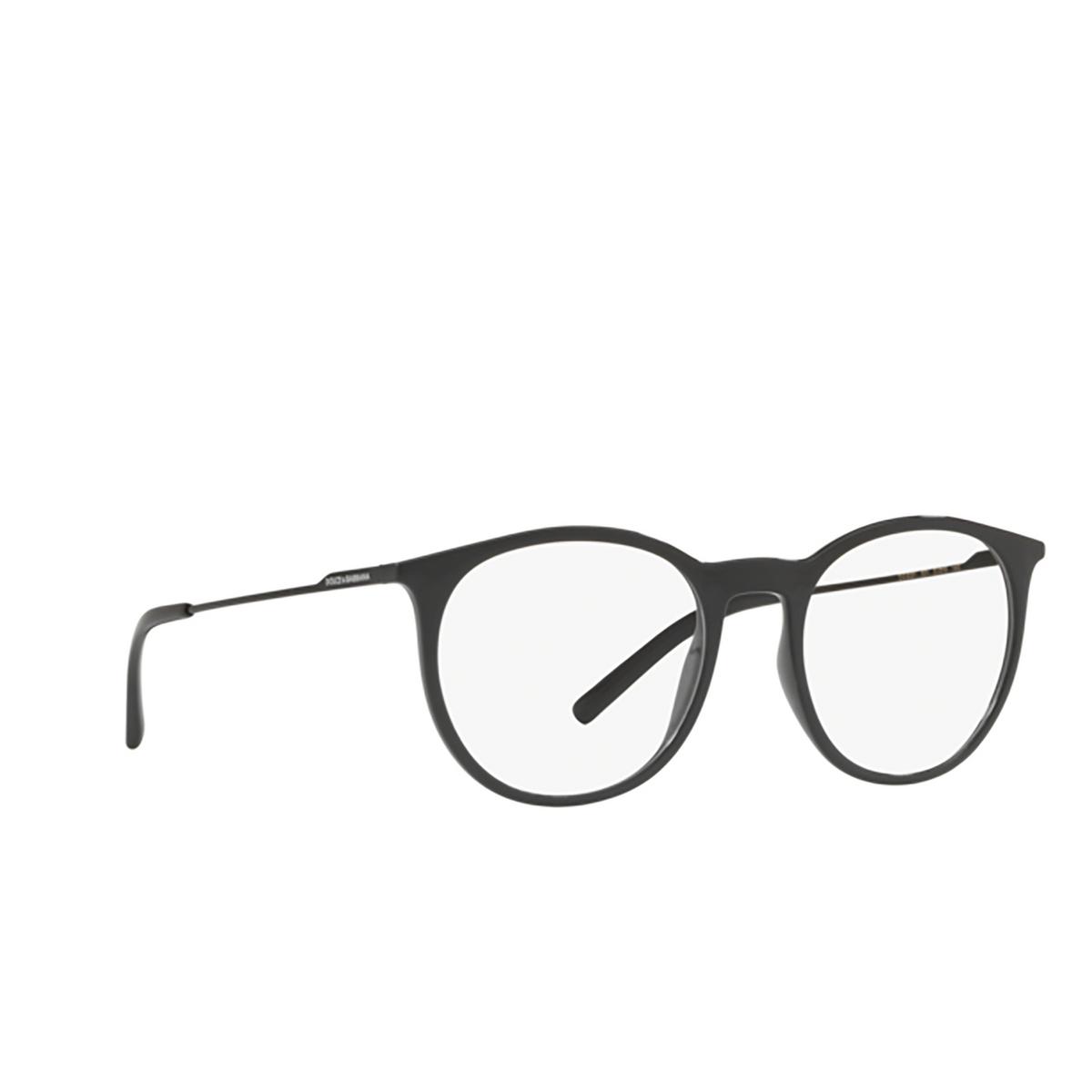 Dolce & Gabbana® Round Eyeglasses: DG5031 color 501 - three-quarters view.