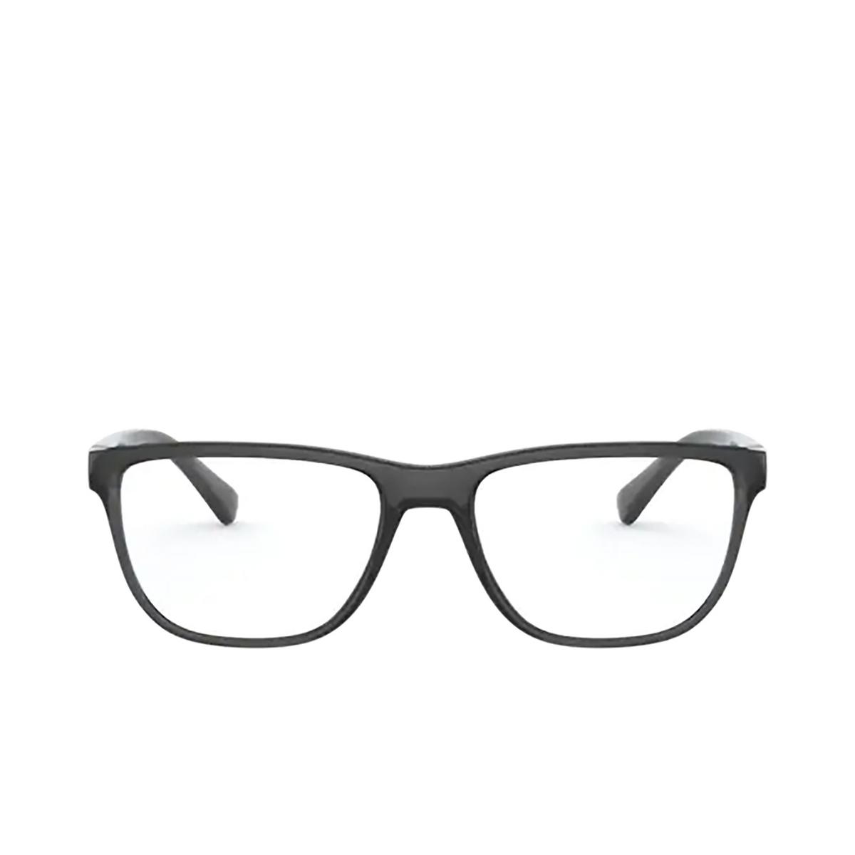 Dolce & Gabbana® Rectangle Eyeglasses: DG5053 color Transparent Grey / Black 3257 - front view.
