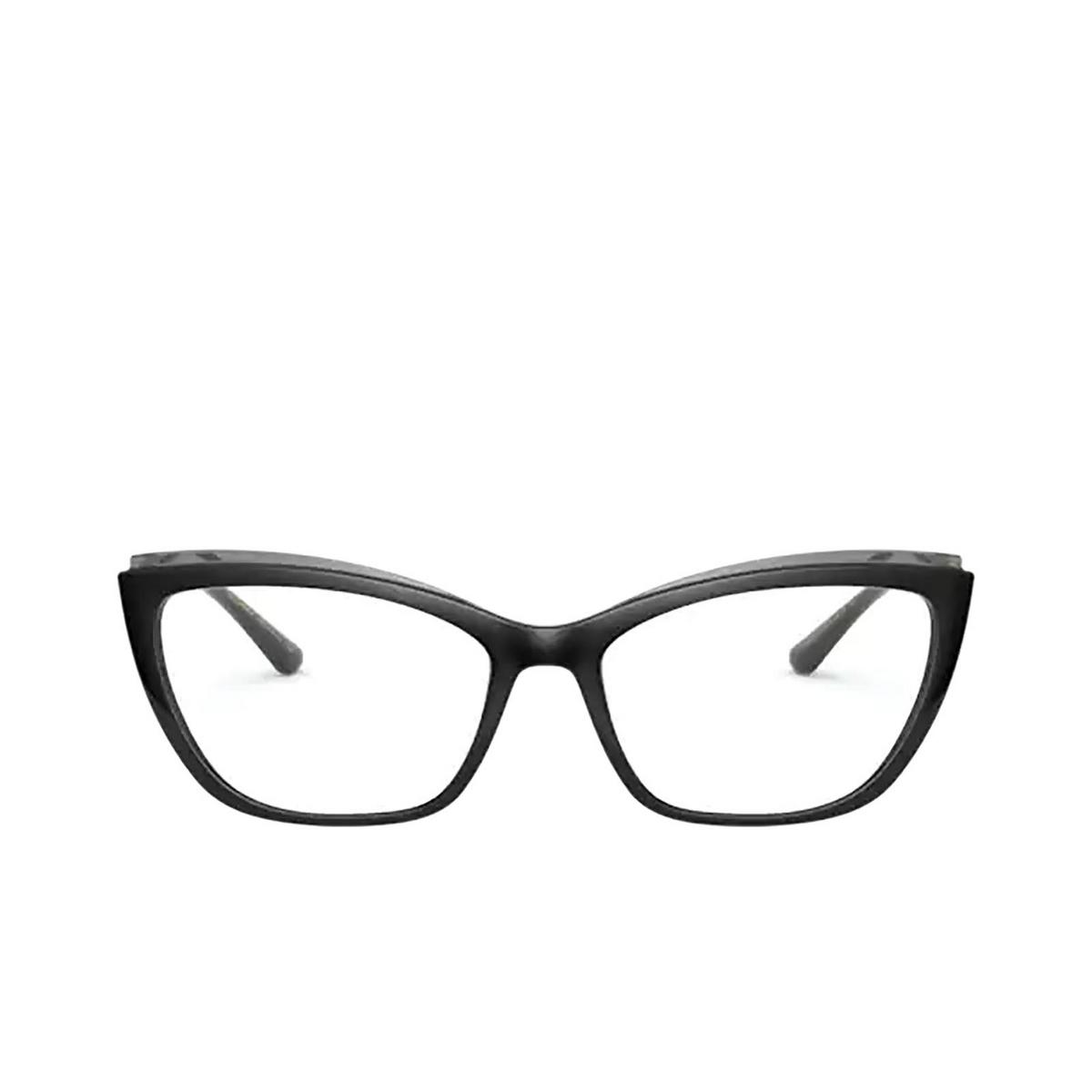 Dolce & Gabbana® Cat-eye Eyeglasses: DG5054 color Black On Transparent Grey 3246 - front view.