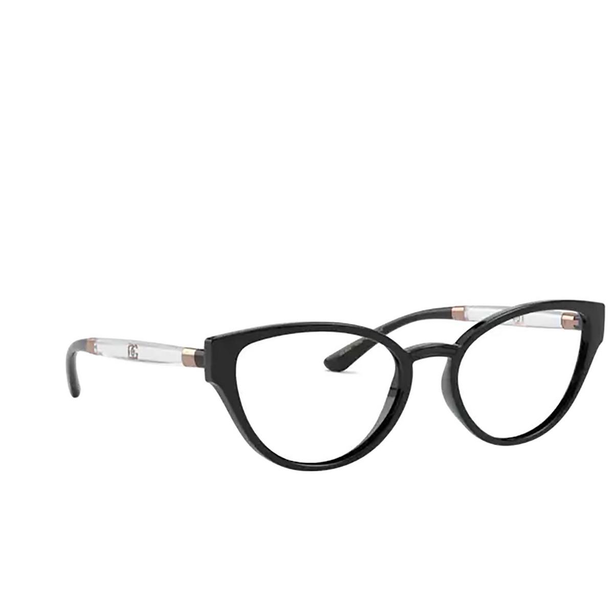 Dolce & Gabbana® Cat-eye Eyeglasses: DG5055 color Black 5012 - three-quarters view.