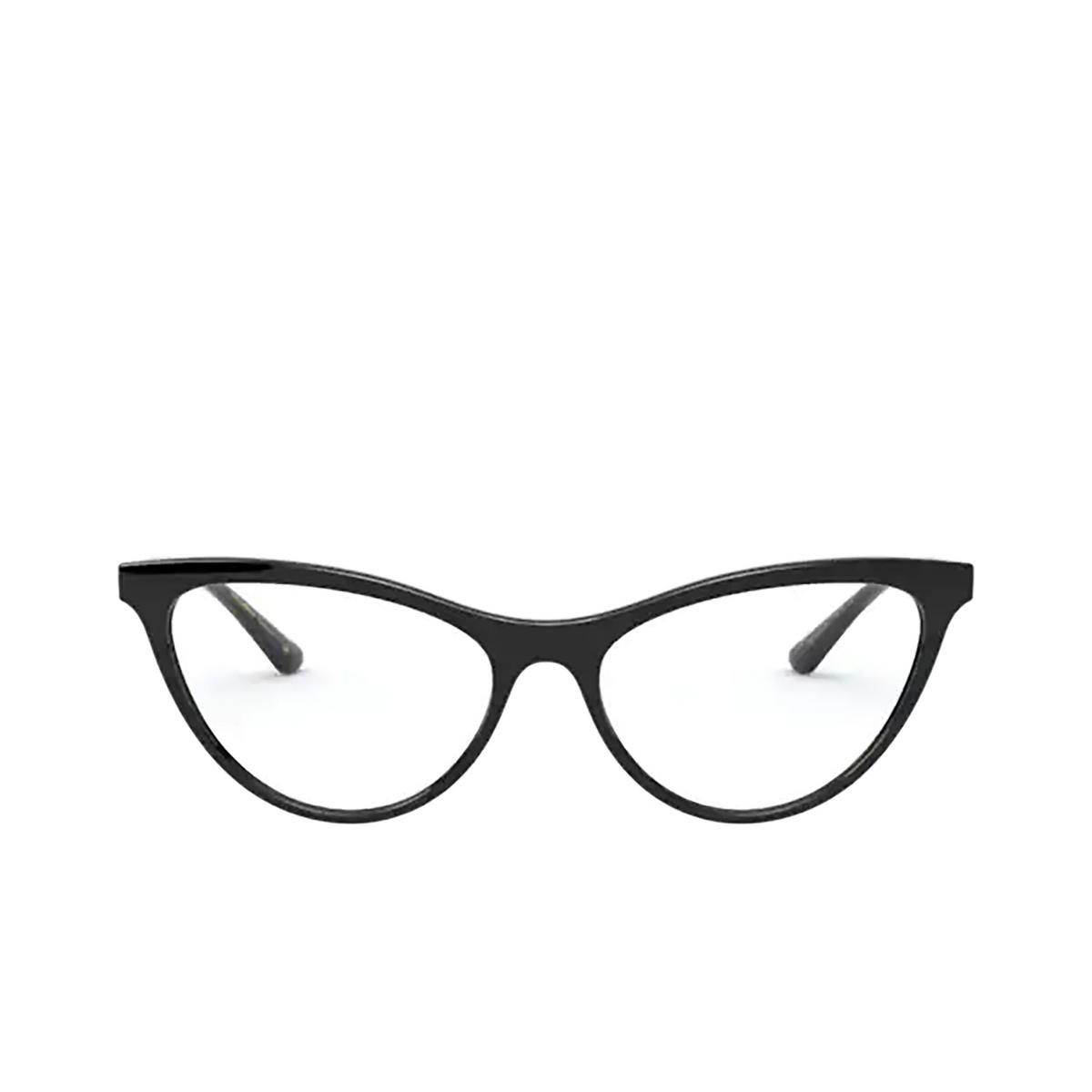 Dolce & Gabbana® Cat-eye Eyeglasses: DG5058 color Black 501 - front view.