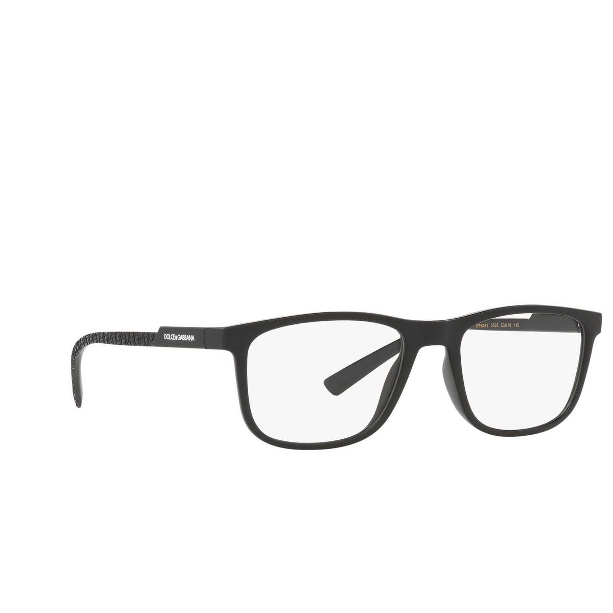 Dolce & Gabbana® Rectangle Eyeglasses: DG5062 color Black 2525 - three-quarters view.
