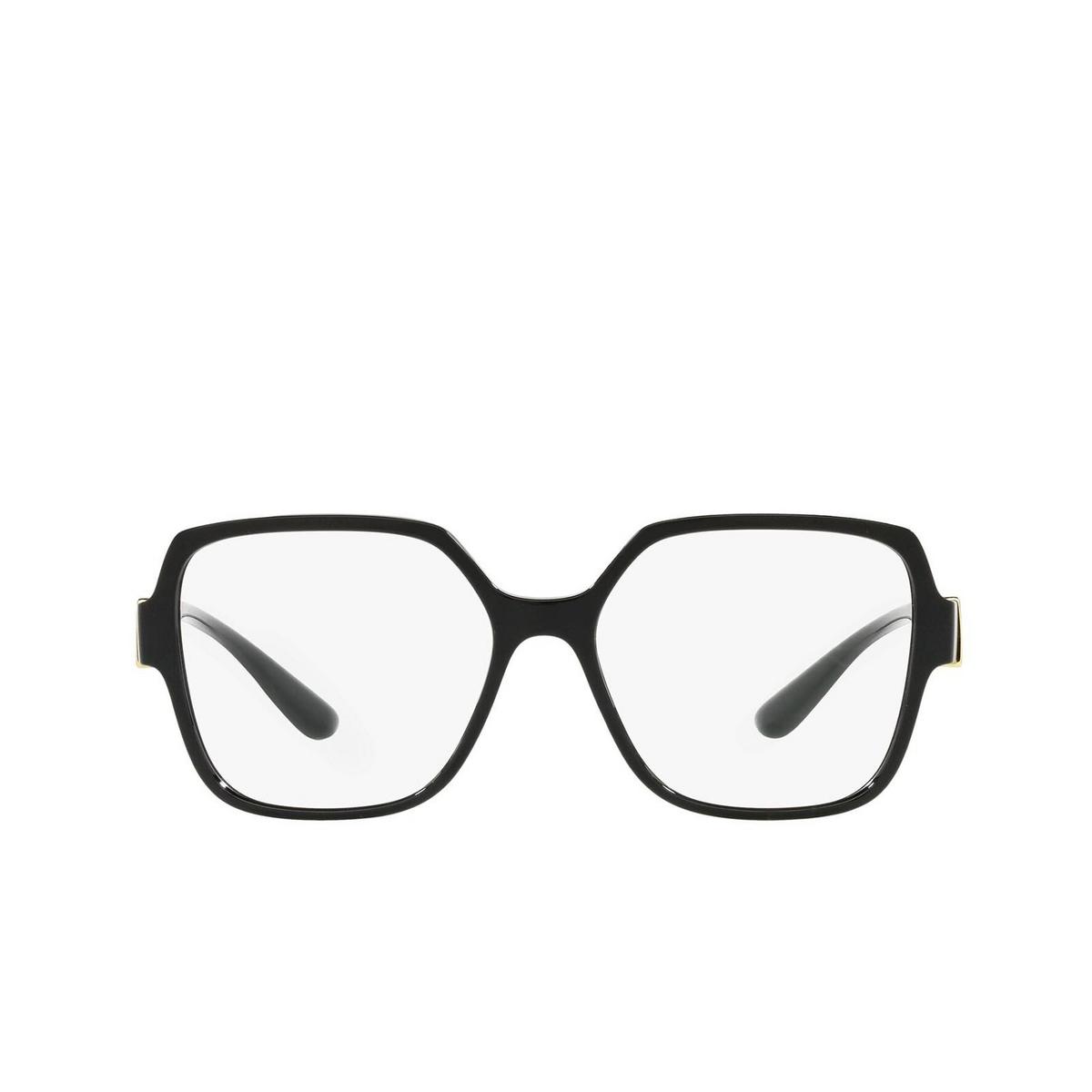 Dolce & Gabbana® Square Eyeglasses: DG5065 color Black 501 - front view.