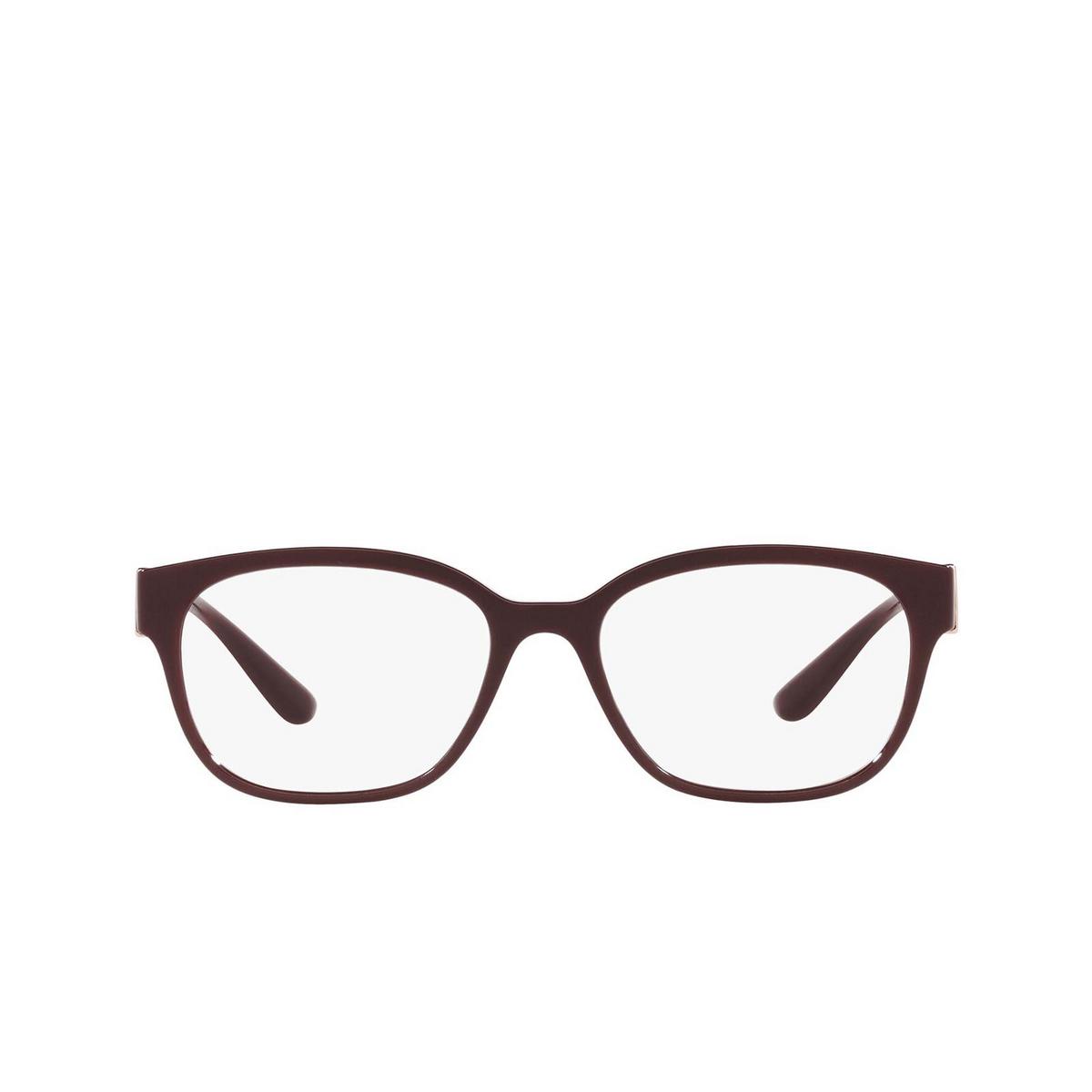 Dolce & Gabbana® Square Eyeglasses: DG5066 color Transparent Bordeaux 3285 - front view.