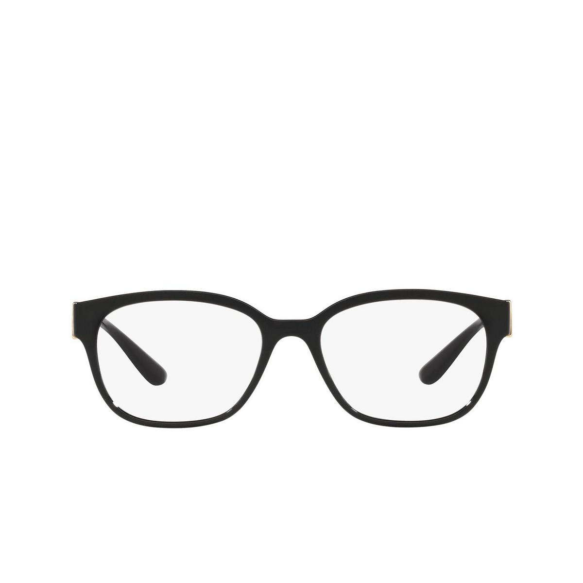 Dolce & Gabbana® Square Eyeglasses: DG5066 color Black 501 - front view.