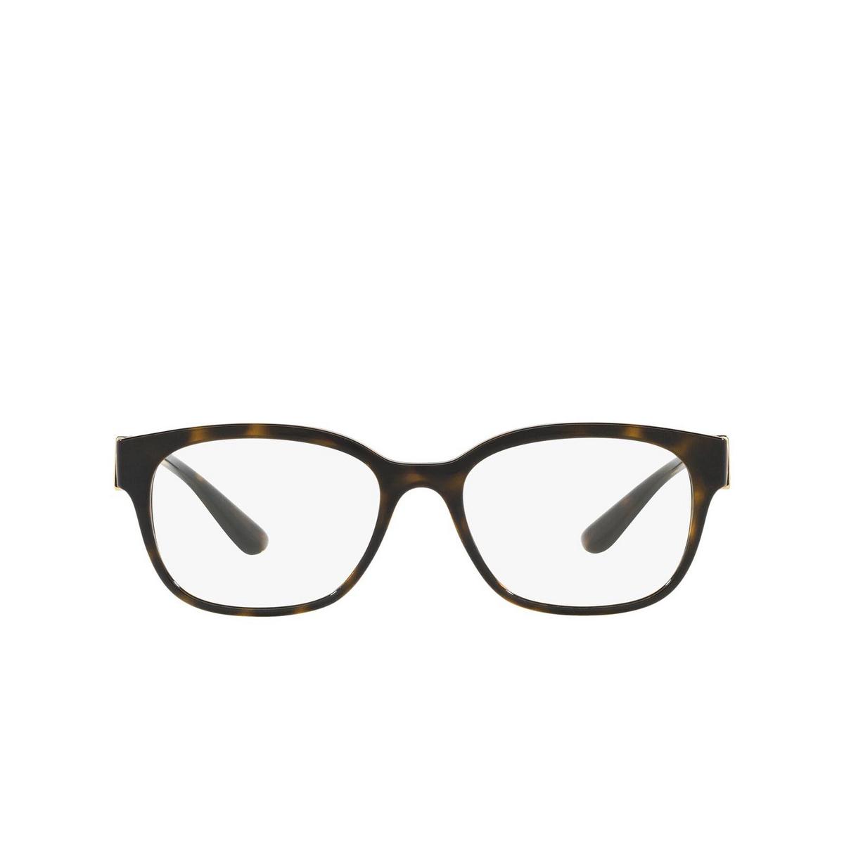Dolce & Gabbana® Rectangle Eyeglasses: DG5066 color Havana 502 - front view.