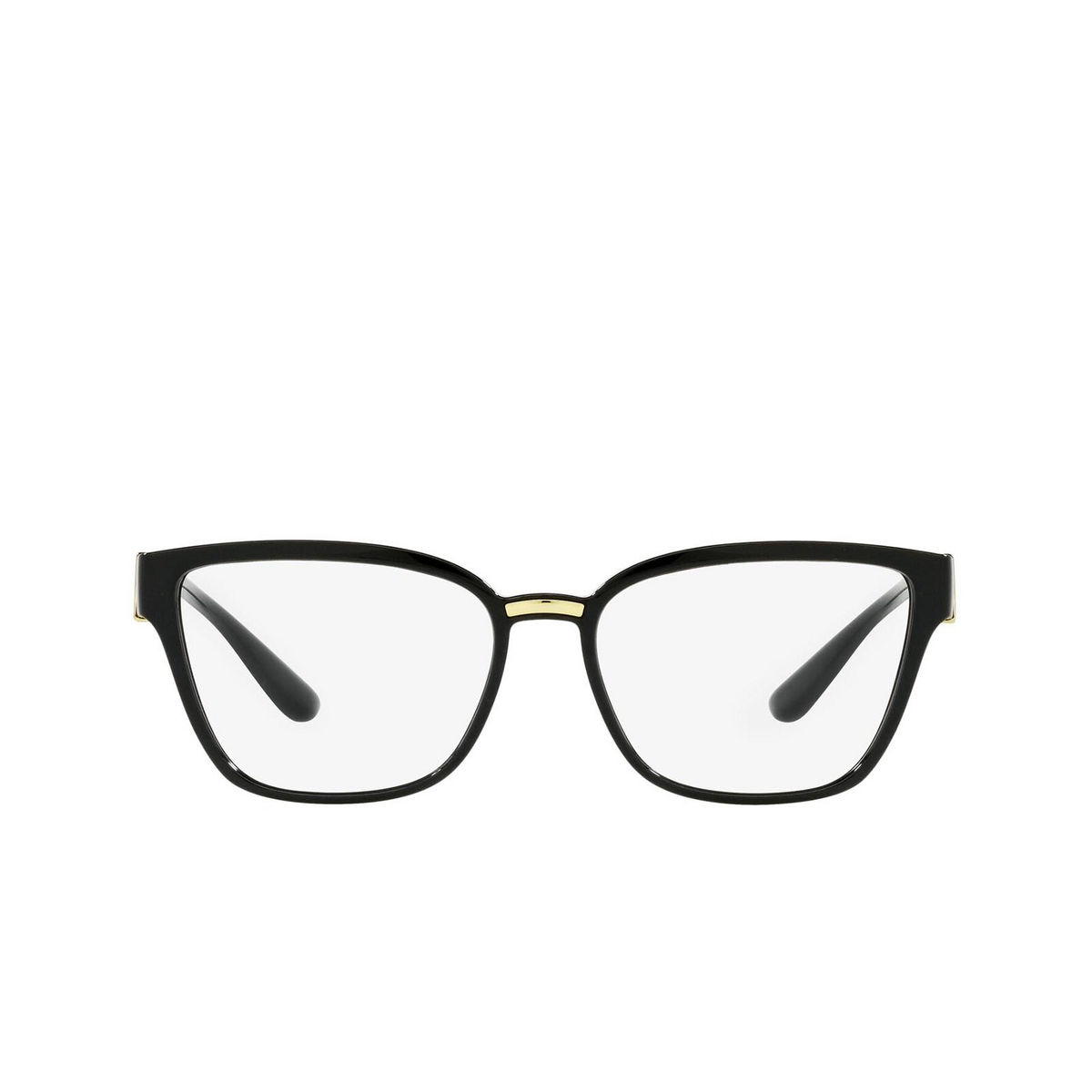 Dolce & Gabbana® Cat-eye Eyeglasses: DG5070 color Black 501 - front view.