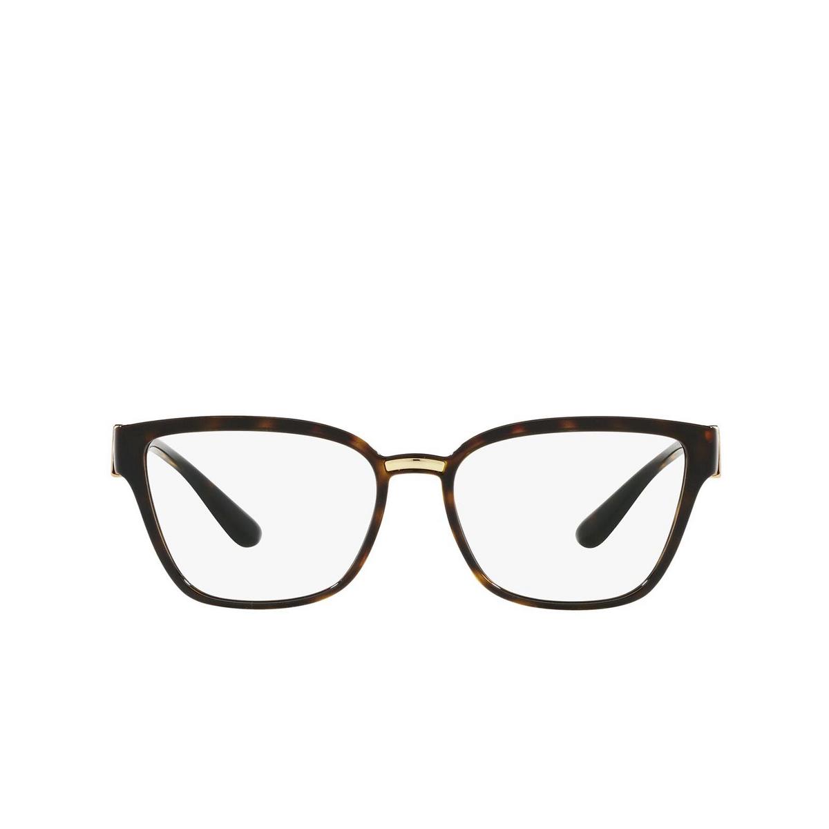 Dolce & Gabbana® Cat-eye Eyeglasses: DG5070 color Havana 502 - front view.
