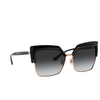 Dolce & Gabbana® Butterfly Sunglasses: DG6126 color Black 501/8G - product thumbnail 2/3.